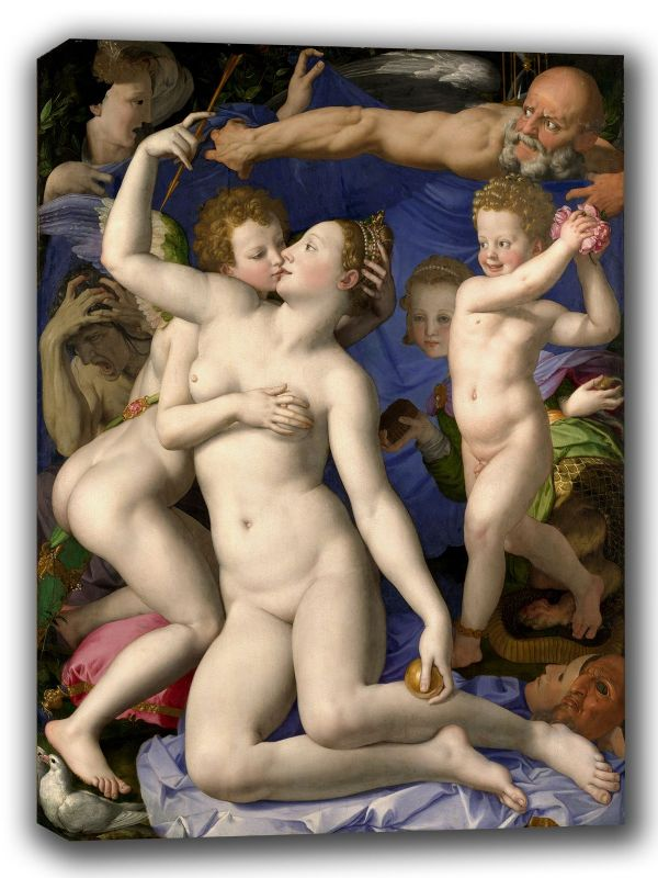 Bronzino, Agnolo: Venus, Cupid, Folly and Time. Fine Art Canvas. Sizes: A4/A3/A2/A1 (001975)
